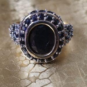Yellow Gold 5 Carat Sapphire Ring